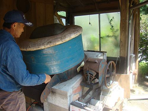 火入れ用の丸釜